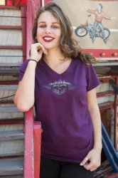 Broken Wings Short sleeve Tee - Plum